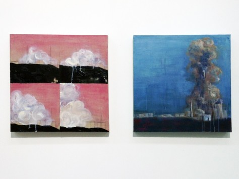 (LEFT) How to Paint Clouds (Step 1, 2, 3, 4) & (RIGHT) A Recurring Landscape, Gabriel Leung