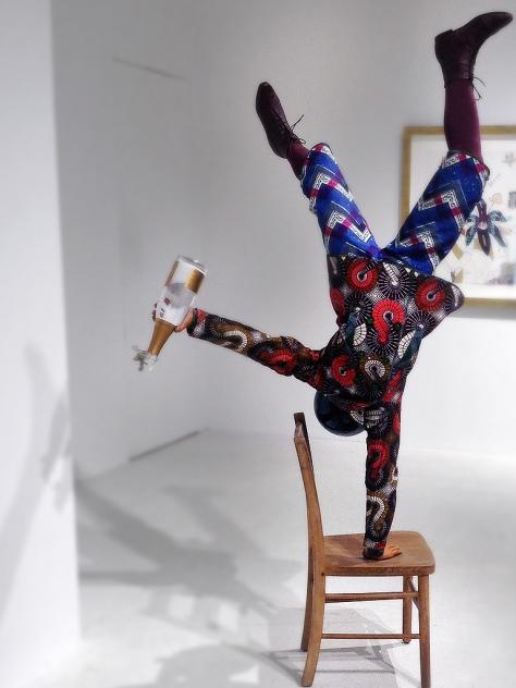 Champagne Kid (Balancing), Yinka Shonibare