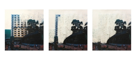 Disappearing Photo Print on water color paper 消失 攝影打印水彩紙本 49cm x 51cm 2014