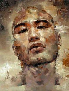 A man who is fragile, oil on canvas 76cm x 102cm