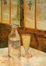 Café Table with absinthe by Van Gogh, 1887 / Oil on Canvas / 46.5 X 33 cm / Van Gogh Museum, Amsterdam (source: wikipedia)