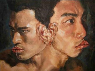 In a Relationship, oil on canvas 82cm x 107cm