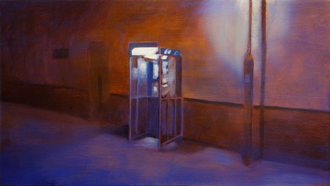 Phonebooth I, 2012, Oil on canvas, 54x96cm