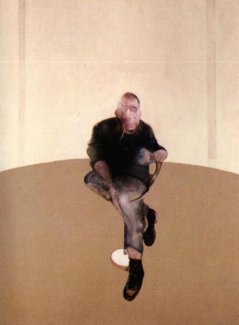 Francis Bacon, Center panel Study for a Self Portrait -Triptych, 1985-86, Private collection