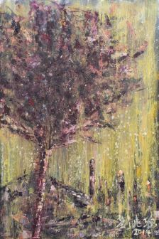 嘉頓山 01 (Garden Hill 01), 90x60cm, oil on wood board, 2014