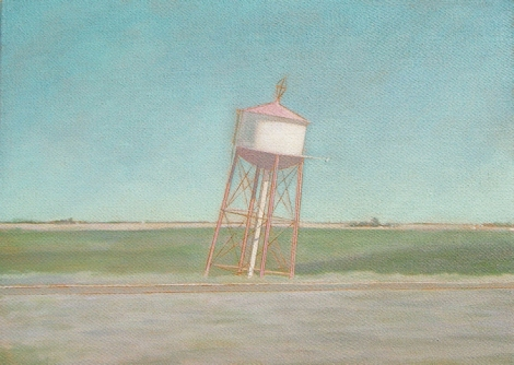 Water Towers III 20 x 28 cm Oil on canvas 2010