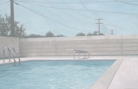 Swimming Pool I 78 x 120 cm Oil on canvas 2010