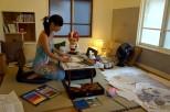 Sarah 參與藝術家駐留計劃 (台灣)