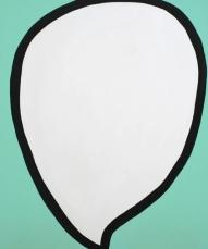 Bubble Go Go, 2014 Acrylic on canvas 120 x 100 cm