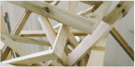 方 (裝置) 木畫框 尺寸可變 2015 Quardrangles (Installation) Wooden frames Dimension variable 2015