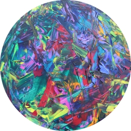Inspired by… Diameter 40.5cm Acrylic on canvas