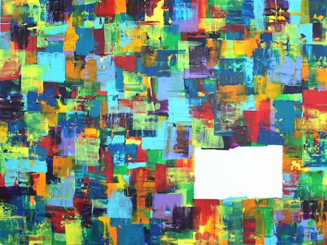 The Wall 86cm x 123cm Acrylic on canvas