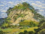 WONG Chun Hei, Climbing, Oil on canvas, 30 x 40 cm